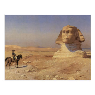 Jean-Leon Gerome- Bonaparte Before the Sphinx Postcard