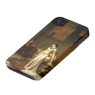 Jean-Leon Gerome- Cleopatra and Caesar iPhone 4 Covers