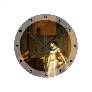 Jean-León Gerome- Cleopatra y César Reloj De Pared