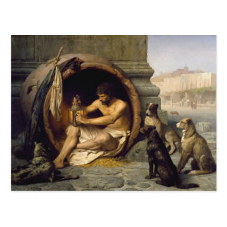 Jean-Leon Gerome- Diogenes Postcard