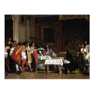 Jean-Leon Gerome- Louis XIV and Moliere Post Cards