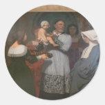 Jean-Leon Gerome- Saint Vincent of Paule Round Sticker