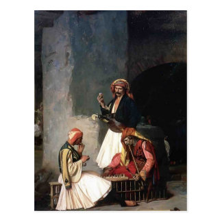 Jean-Leon Gerome- The Draught Players Post Card