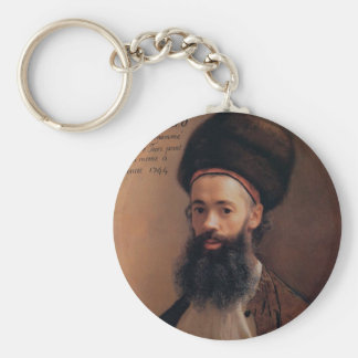 Jean Liotard Self-portrait Keychain