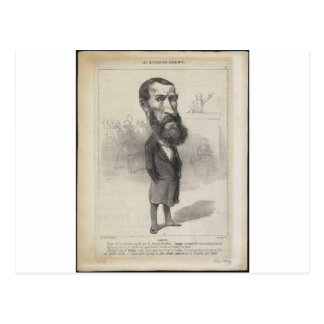 Jean-Louis Greppo by Honore Daumier Postcard