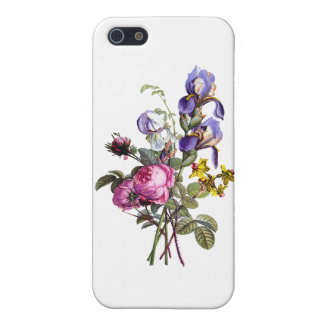 Jean Louis Prevost Cabbage Rose and Iris Bouquet Cover For iPhone SE/5/5s