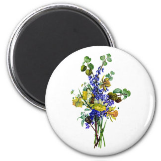 Jean Louis Prevost Daffodil Bouquet 2 Inch Round Magnet