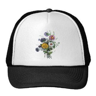 Jean Louis Prevost Daisy and Sunflower Bouquet Trucker Hat