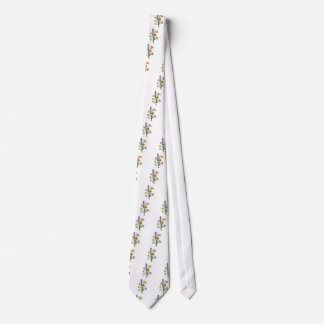 Jean Louis Prevost Day Lily and Carnation Bouquet Neck Tie