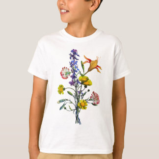 Jean Louis Prevost Day Lily and Carnation Bouquet T-Shirt