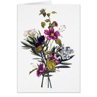 Jean Louis Prevost Mixed Flower Bouquet Card
