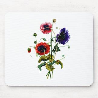 Jean Louis Prevost Mixed Poppy Bouquet Mouse Pad