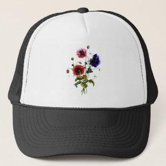 Jean Louis Prevost Mixed Poppy Bouquet Trucker Hat