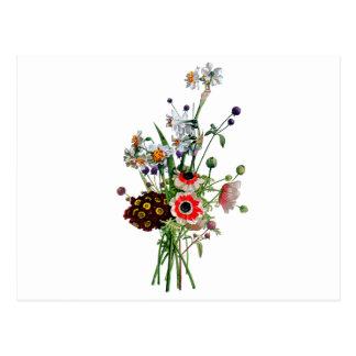 Jean Louis Prevost Narcissus Bouquet Postcard