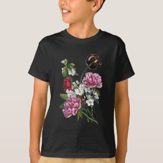 Jean Louis Prevost Peony and Tulip Bouquet T-Shirt