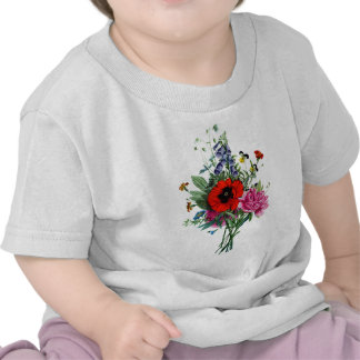 Jean Louis Prevost Poppy and Peony Bouquet Shirts