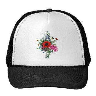 Jean Louis Prevost Poppy and Peony Bouquet Trucker Hat