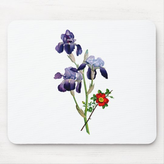 Jean Louis Prevost Purple Iris Bouquet Mouse Pad