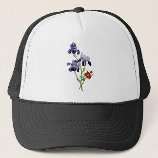 Jean Louis Prevost Purple Iris Bouquet Trucker Hat