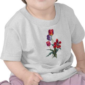 Jean Louis Prevost Red & Blue Tulip Bouquet Tee Shirt