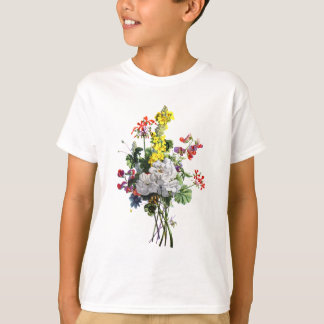 Jean Louis Prevost Rose and Begonia Bouquet T-Shirt