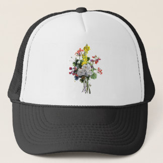 Jean Louis Prevost Rose and Begonia Bouquet Trucker Hat