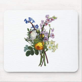 Jean Louis Prevost Rose and Narcissus Bouquet Mouse Pad