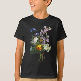 Jean Louis Prevost Rose and Narcissus Bouquet T-Shirt