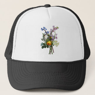 Jean Louis Prevost Rose and Narcissus Bouquet Trucker Hat
