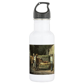Jean Millet- Peasants Bringing Home a Born Calf 18oz Water Bottle
