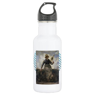 Jean  Millet-The Spinner, Goatherd of the Auvergne 18oz Water Bottle