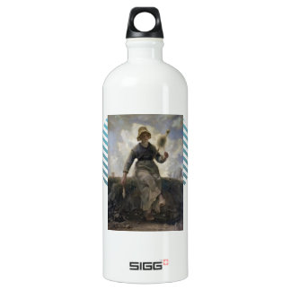 Jean  Millet-The Spinner, Goatherd of the Auvergne SIGG Traveler 1.0L Water Bottle