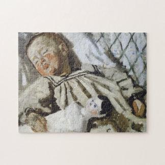 Jean Monet Asleep Monet Fine Art Jigsaw Puzzle