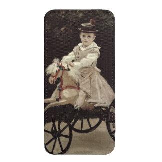 Jean Monet en su caballo de la afición, 1872 Funda Acolchada Para iPhone