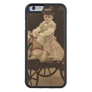Jean Monet en su caballo de la afición, 1872 Funda De iPhone 6 Bumper Arce