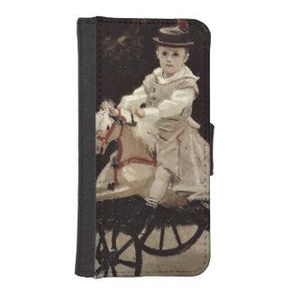 Jean Monet en su caballo de la afición, 1872 Fundas Billetera De iPhone 5