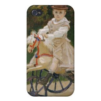 Jean Monet en su caballo de la afición - Claude iPhone 4/4S Carcasa