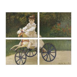 Jean Monet en su caballo de la afición Impresión En Lona Estirada