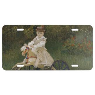 Jean Monet en su caballo de la afición Placa De Matrícula