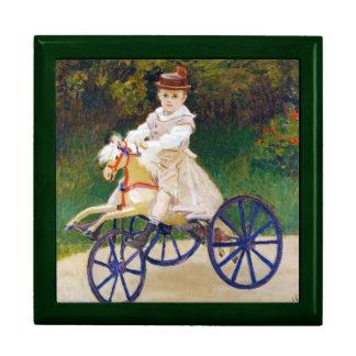 Jean Monet en un caballo mecánico Claude Monet Cajas De Joyas