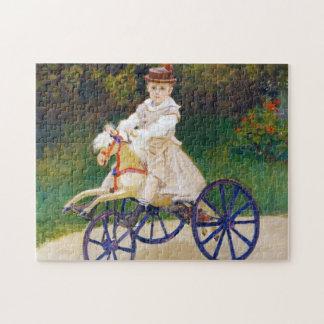 Jean Monet en un caballo mecánico Claude Monet Rompecabeza