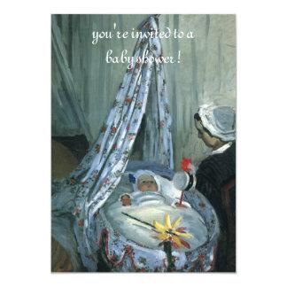 Jean Monet in Cradle by Claude Monet, Baby Shower Card