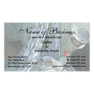 Jean Monet in His Cradle by Claude Monet Double-Sided Standard Business Cards (Pack Of 100)