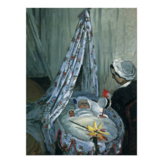 Jean Monet in His Cradle by Claude Monet Poster