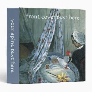 Jean Monet in His Cradle by Monet, Vintage Art Vinyl Binders