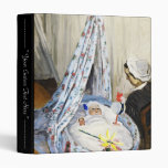Jean Monet in the Cradle Claude Monet cool, old, 3 Ring Binders