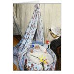Jean Monet in the Cradle Claude Monet cool, old, Stationery Note Card