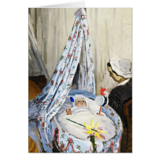 Jean Monet in the Cradle Claude Monet cool, old, Card