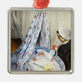Jean Monet in the Cradle Claude Monet cool, old, Metal Ornament