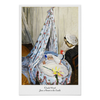 Jean Monet in the Cradle Claude Monet cool, old, Poster